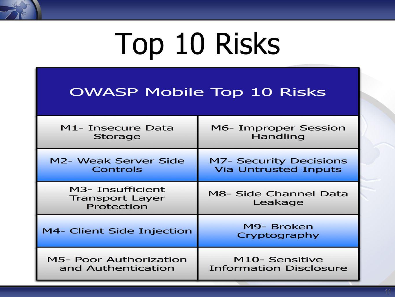 Top 10 Risks