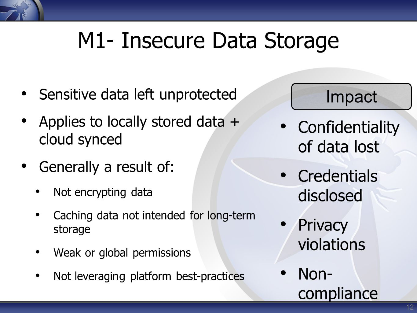 M1- Insecure Data Storage