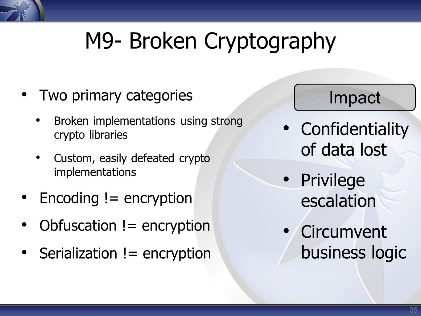 M9- Broken Cryptography