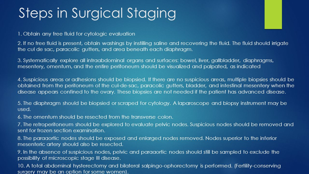 Steps in Surgical Staging