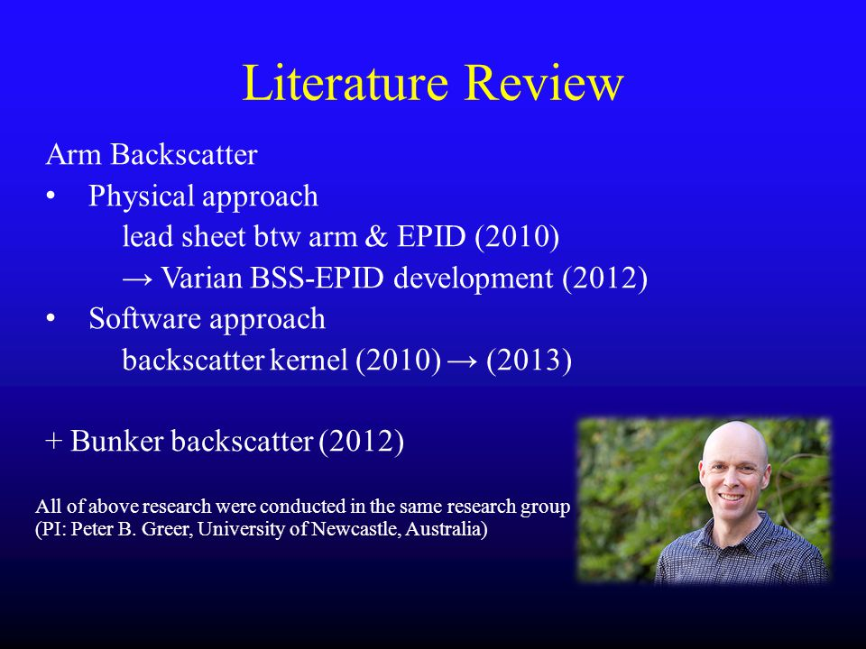 Literature Review Arm Backscatter Physical approach