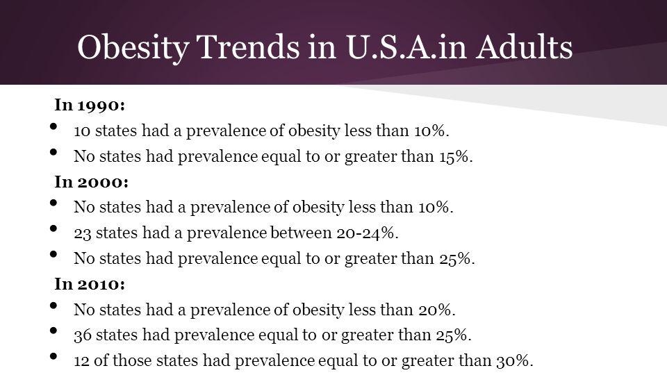 Obesity Trends in U.S.A.in Adults