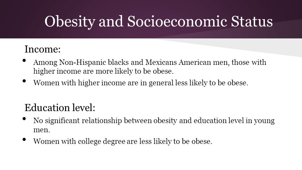 Obesity and Socioeconomic Status