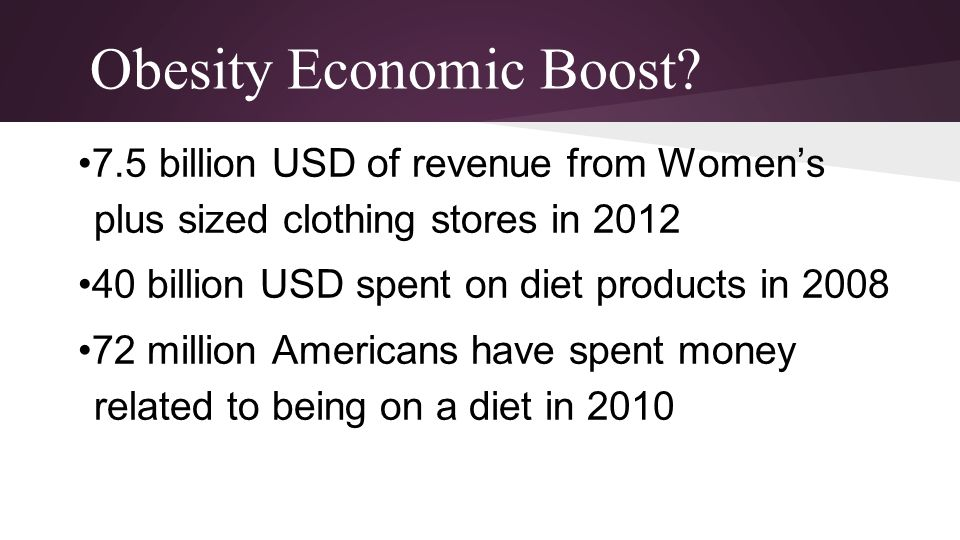 Obesity Economic Boost