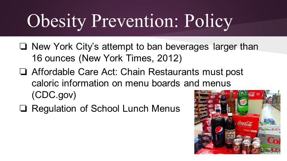Obesity Prevention: Policy