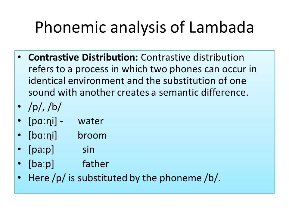 Phonemic analysis of Lambada