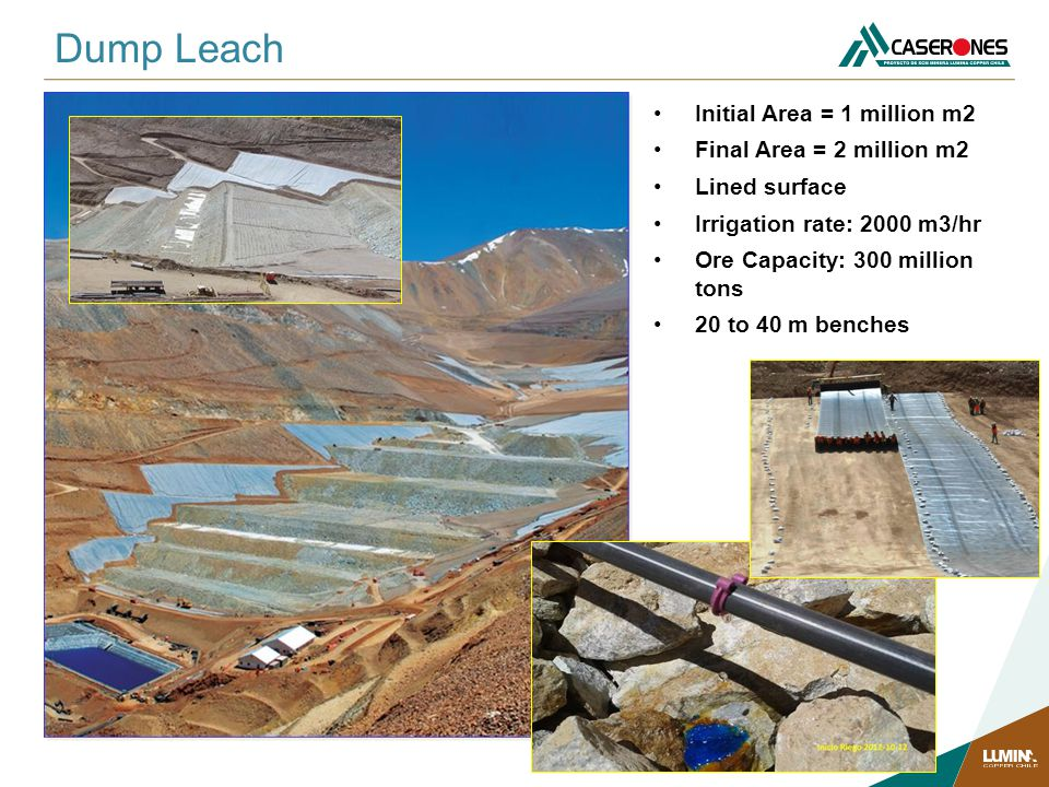Dump Leach Initial Area = 1 million m2 Final Area = 2 million m2