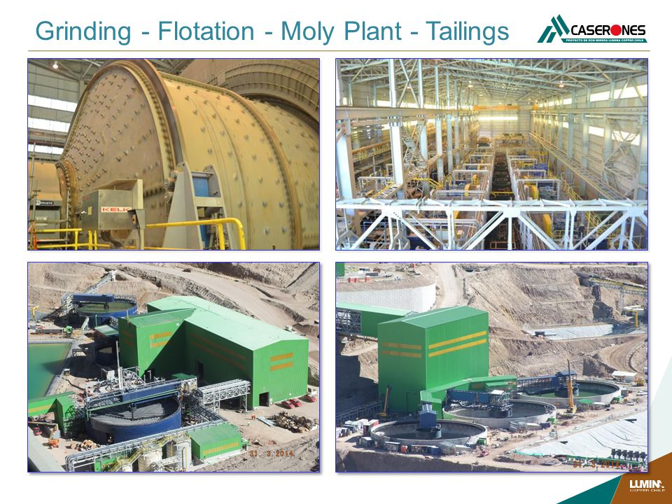 Grinding - Flotation - Moly Plant - Tailings