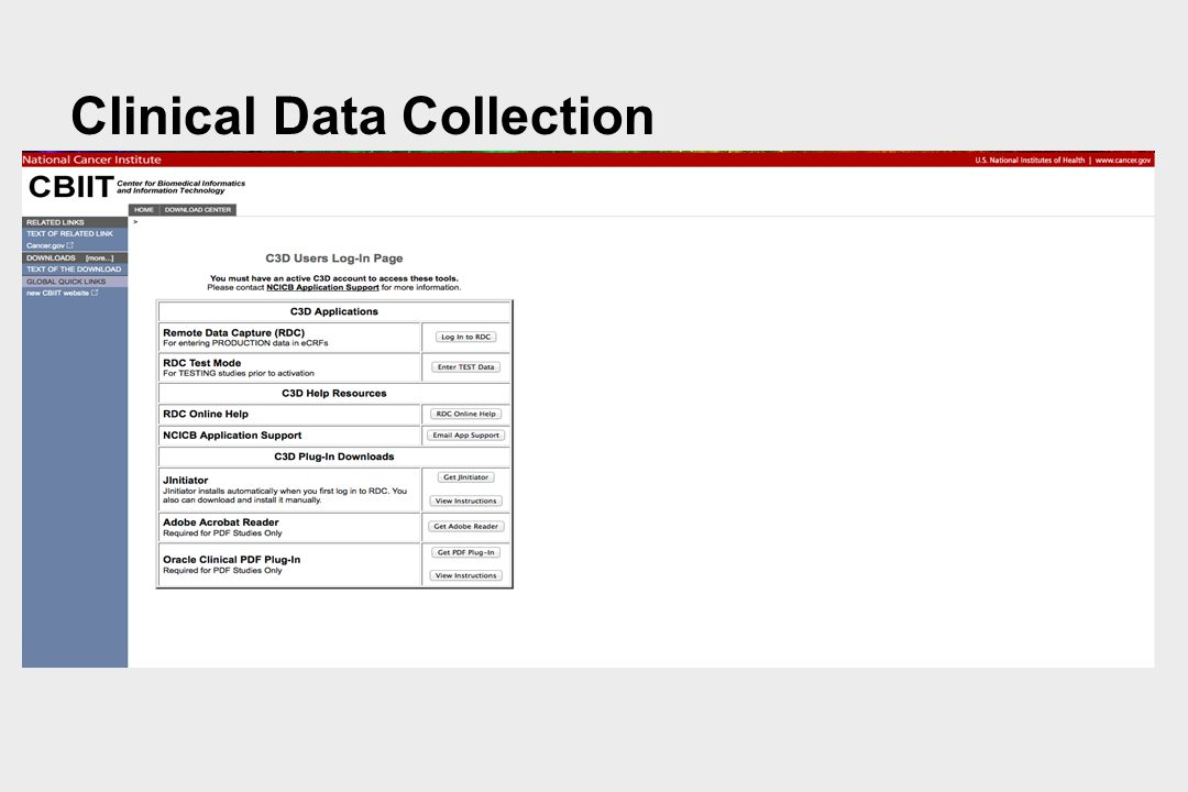 Clinical Data Collection