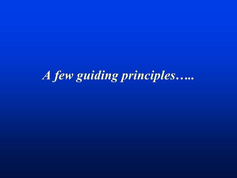 A few guiding principles…..