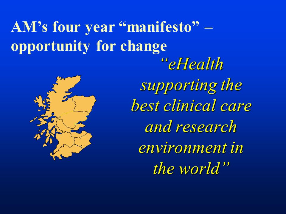 AM's four year manifesto – opportunity for change