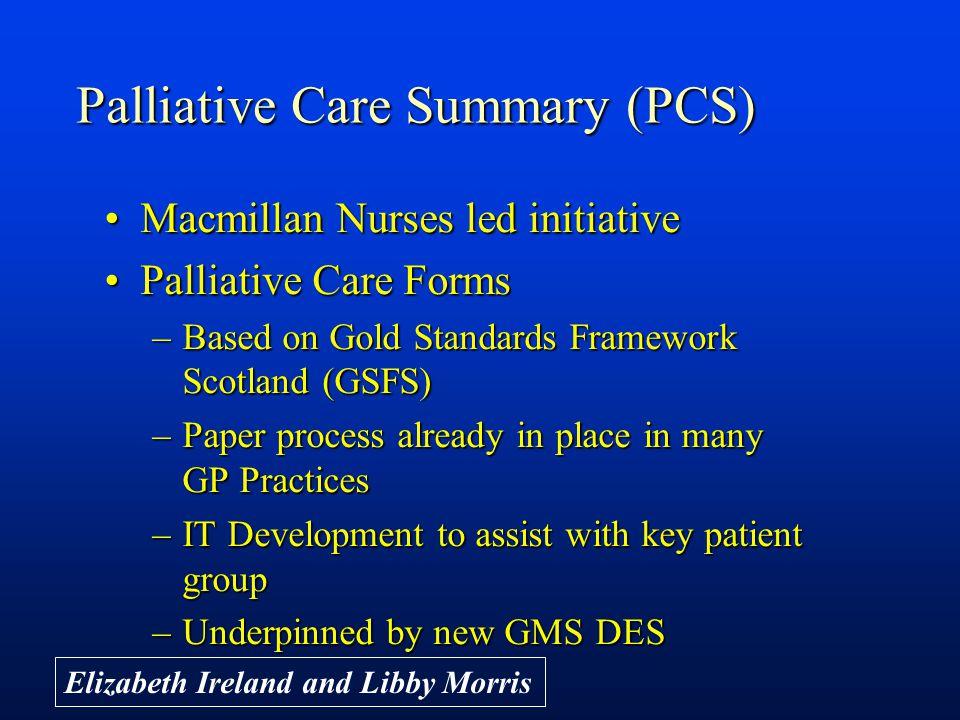 Palliative Care Summary (PCS)
