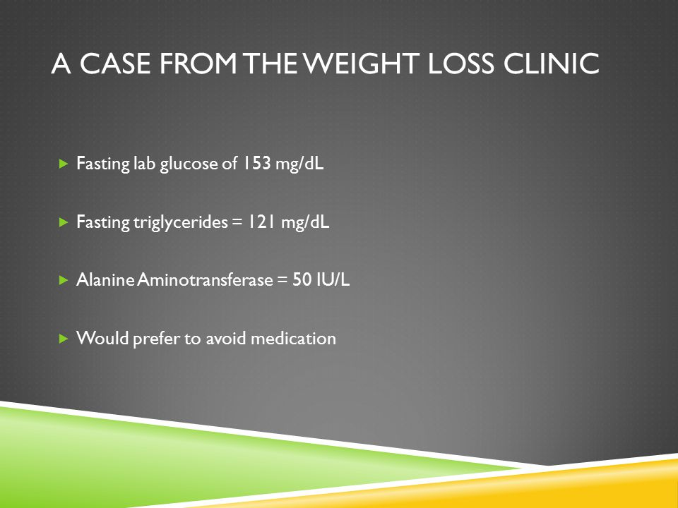 A Case from the Weight Loss Clinic