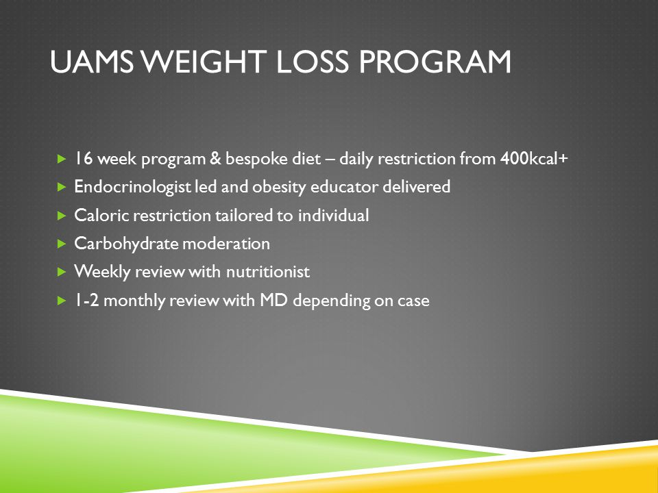 Cost for weight loss program in vlcc