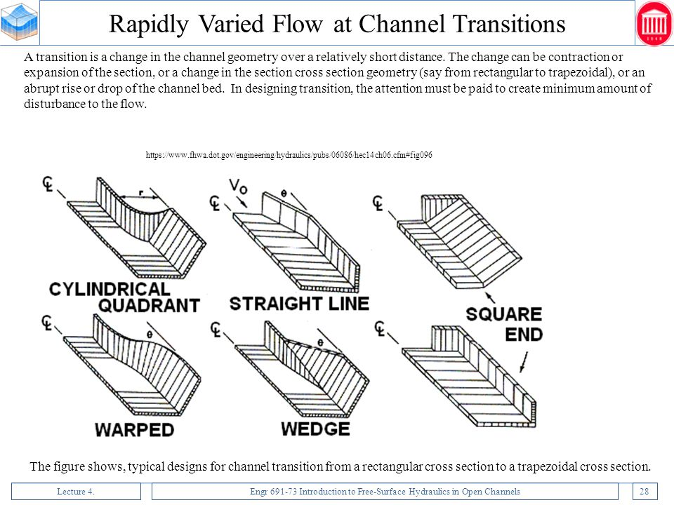 Rapidly Varied Flow at Channel Transitions