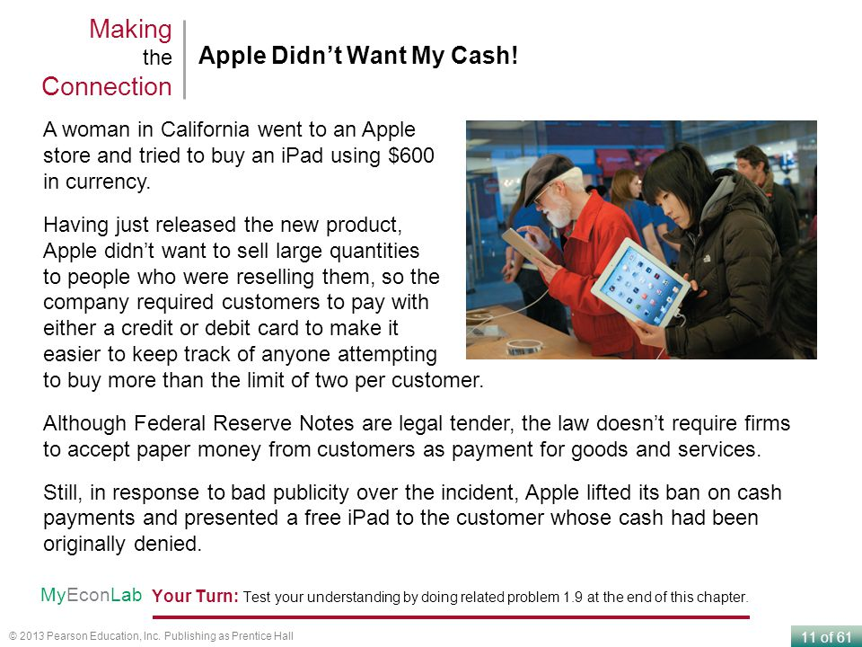 Making the Connection Apple Didn't Want My Cash!