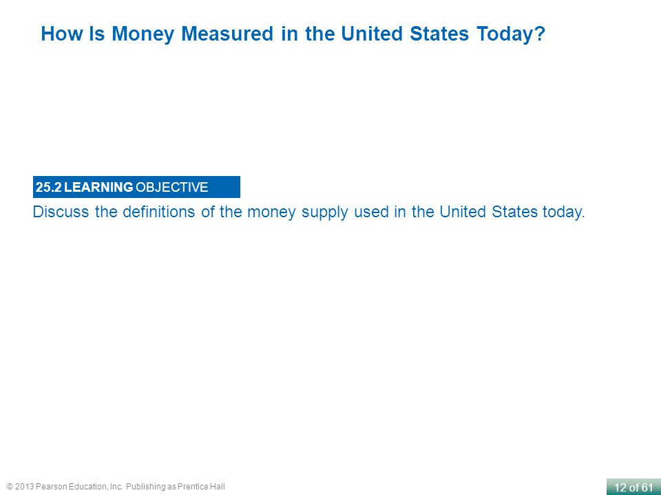 How Is Money Measured in the United States Today
