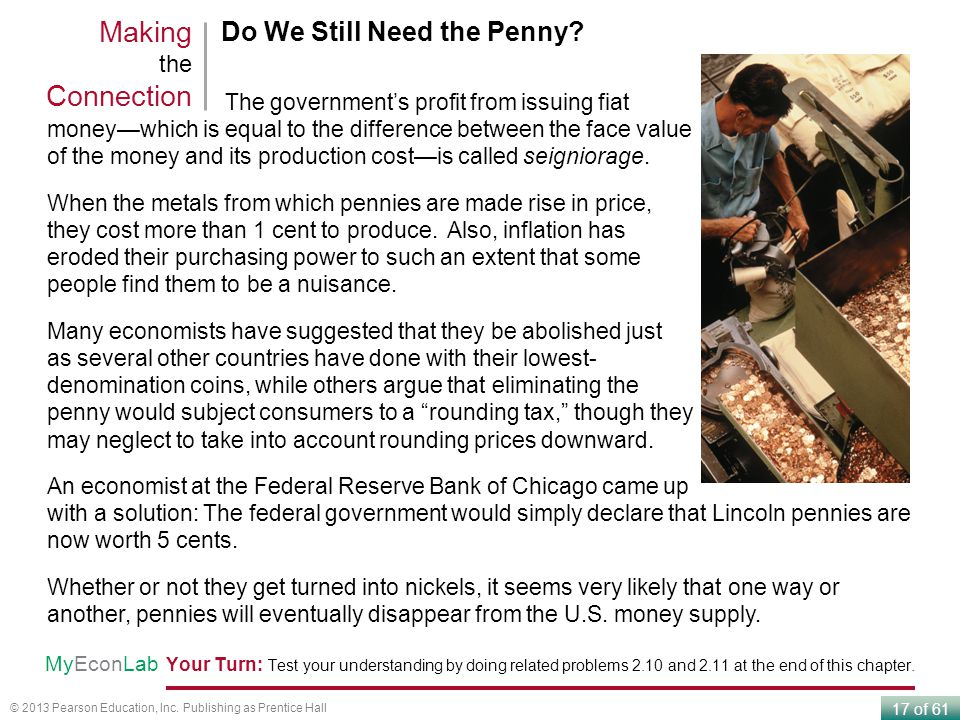 Making the Connection Do We Still Need the Penny