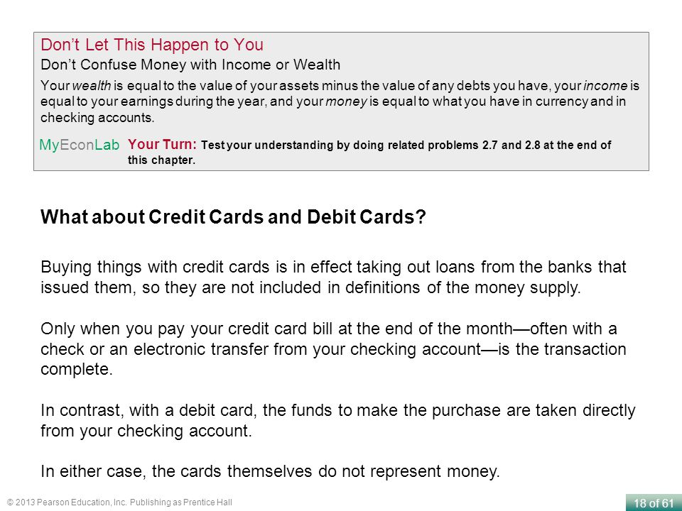 What about Credit Cards and Debit Cards
