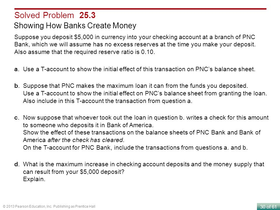 Solved Problem 25.3 Showing How Banks Create Money