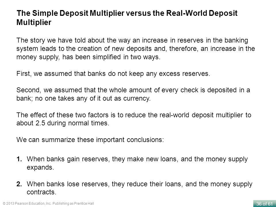 The Simple Deposit Multiplier versus the Real-World Deposit Multiplier
