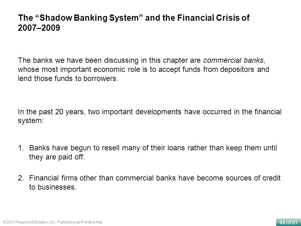 The Shadow Banking System and the Financial Crisis of 2007–2009