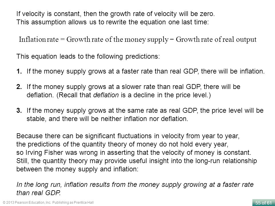 If velocity is constant, then the growth rate of velocity will be zero.