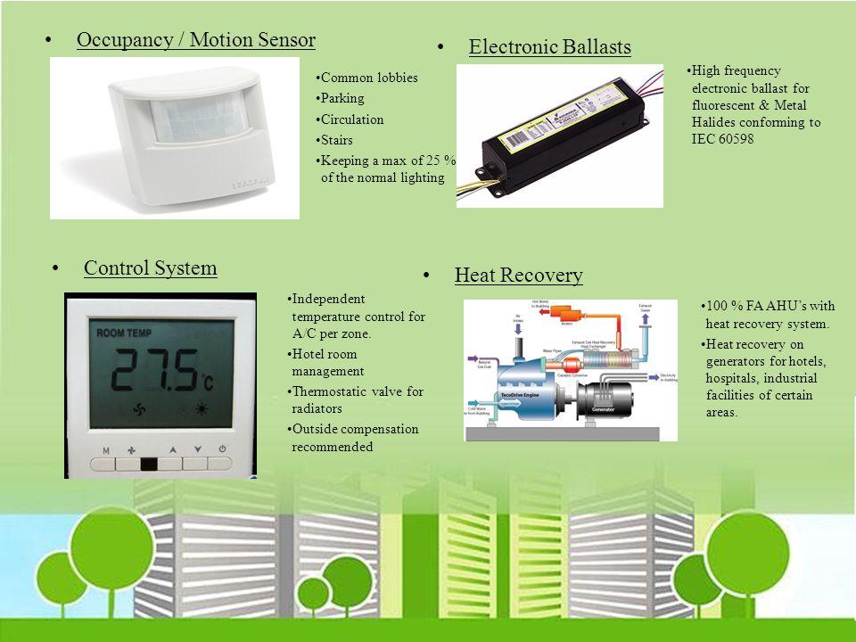 Occupancy / Motion Sensor Electronic Ballasts
