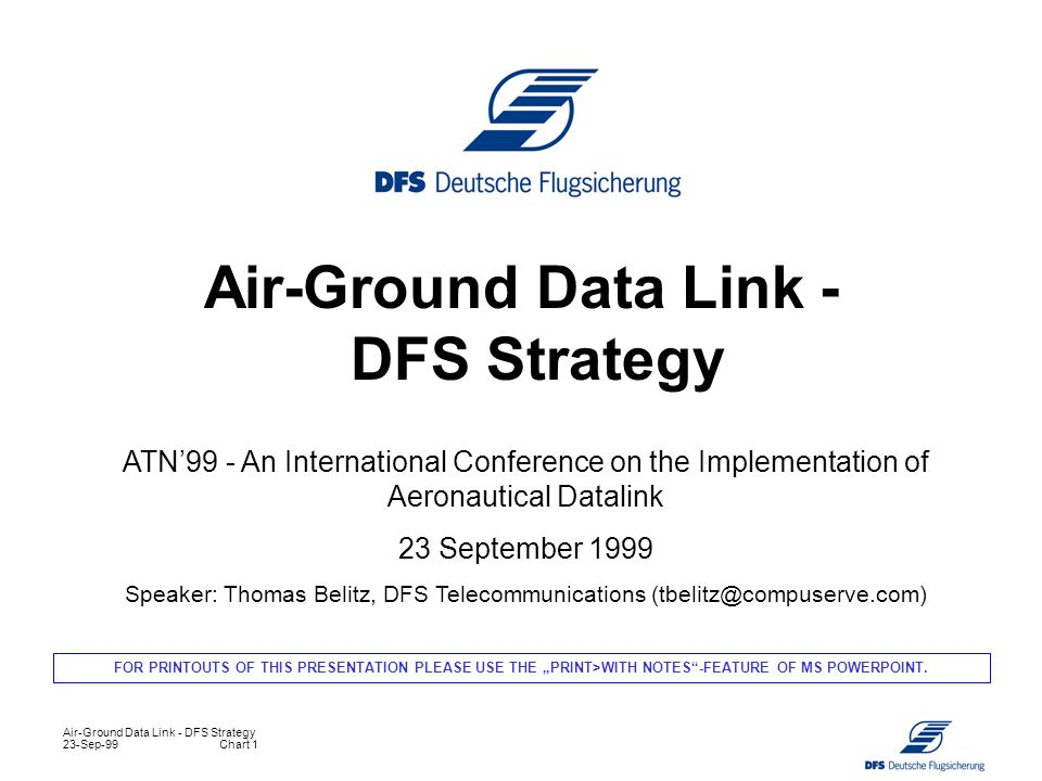 Air-Ground Data Link - DFS Strategy