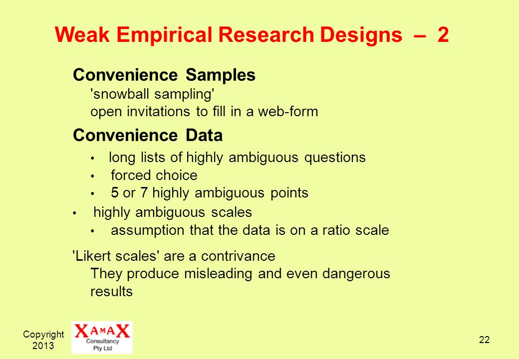 Weak Empirical Research Designs – 2