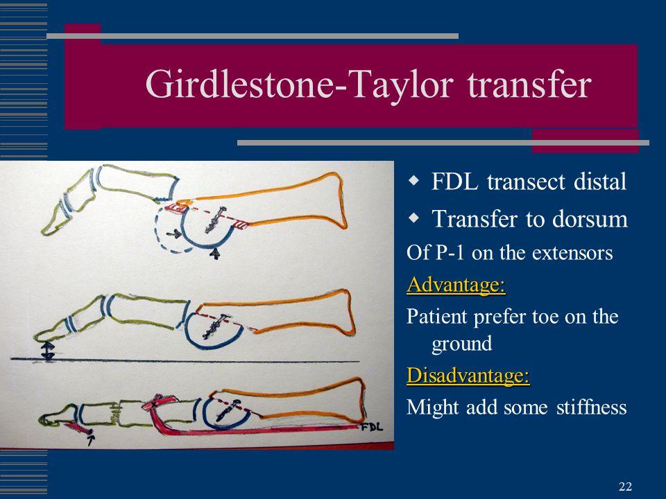Girdlestone-Taylor transfer