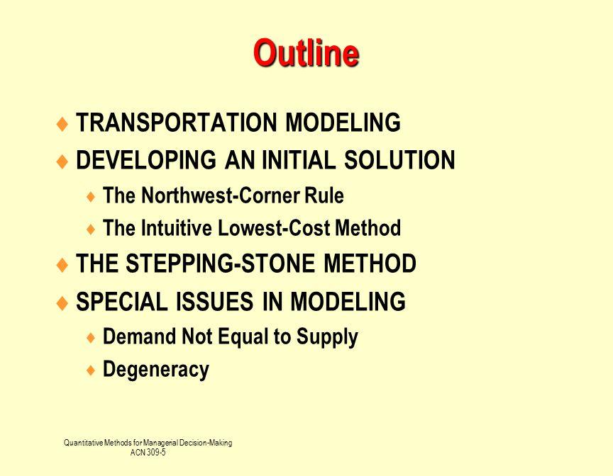 Quantitative Methods for Managerial Decision-Making
