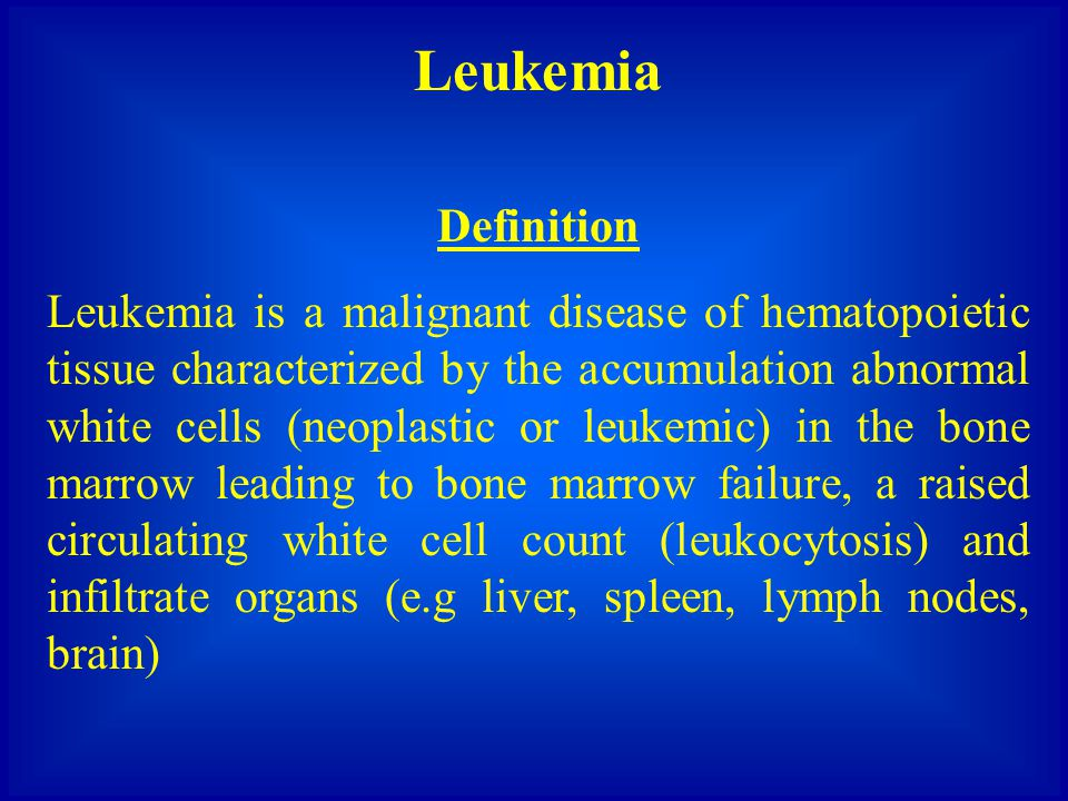 Leukemia Definition.