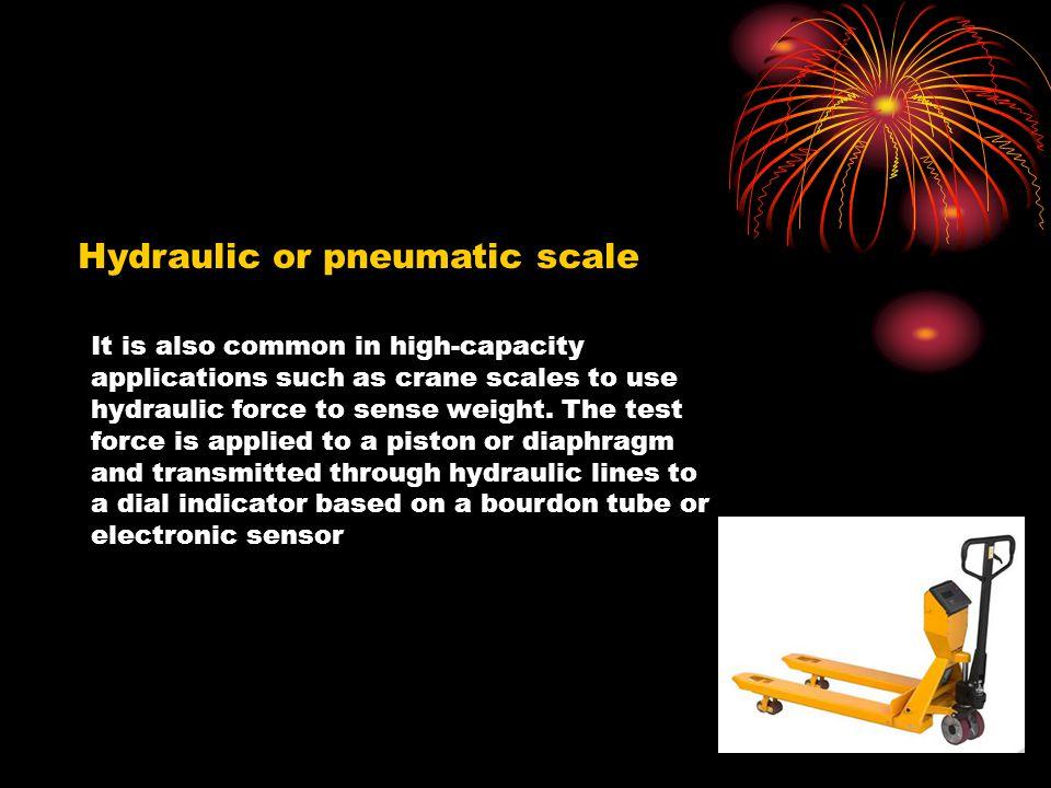 Hydraulic or pneumatic scale