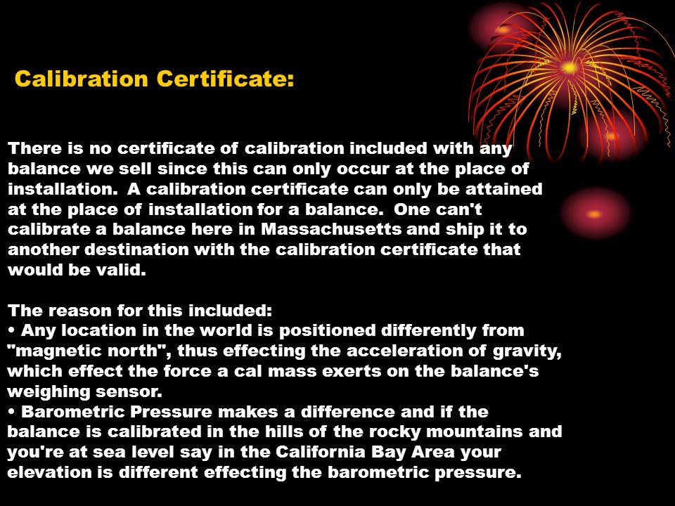 Calibration Certificate: