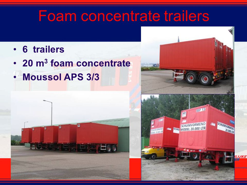Foam concentrate trailers