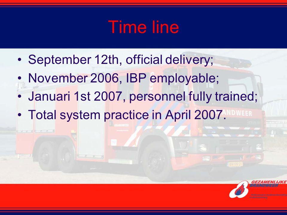 Time line September 12th, official delivery;