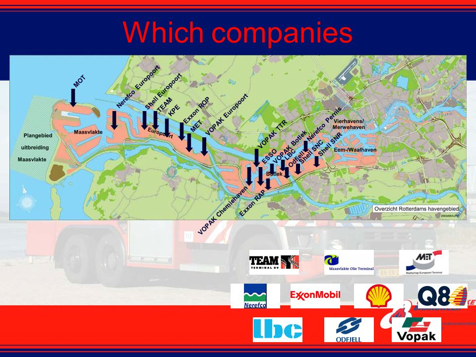 Which companies MOT Shell Europoort Nerefco Europoort TEAM KPE