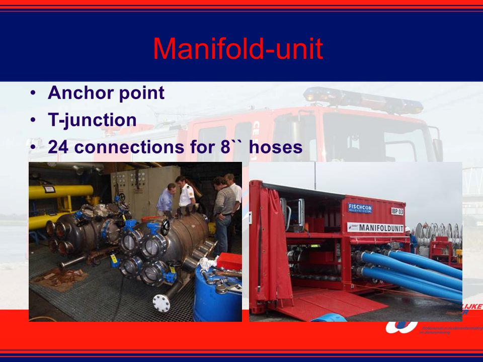 Manifold-unit Anchor point T-junction 24 connections for 8`` hoses