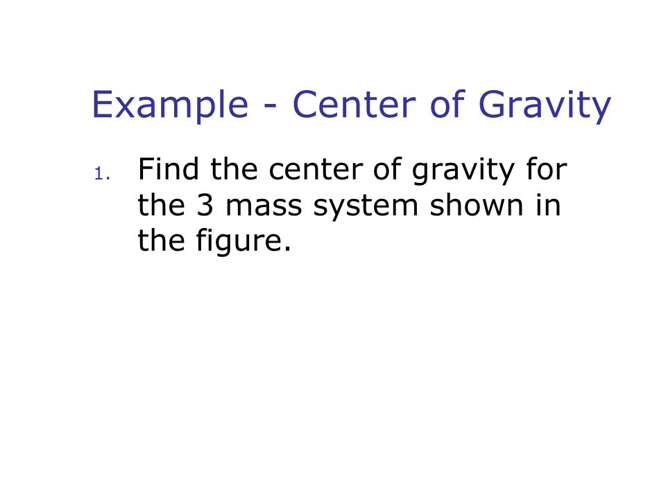 Example - Center of Gravity