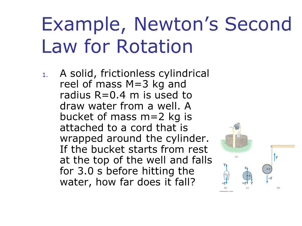 Example, Newton's Second Law for Rotation