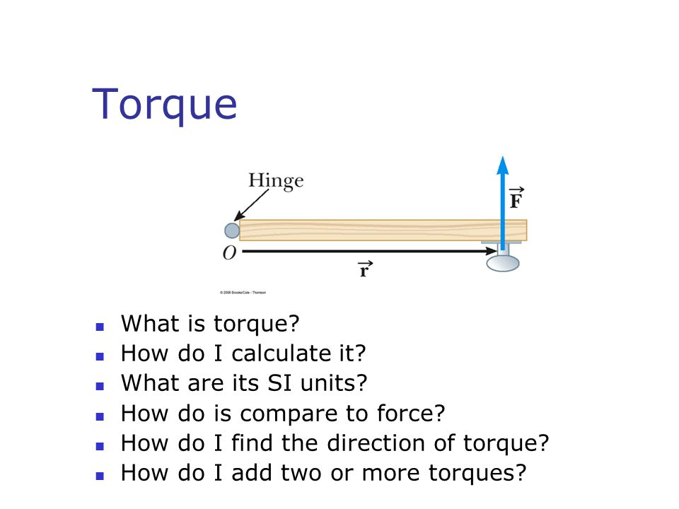 Torque What is torque How do I calculate it What are its SI units