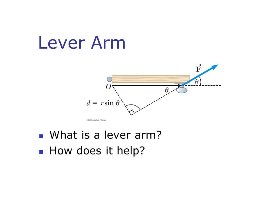 Lever Arm What is a lever arm How does it help