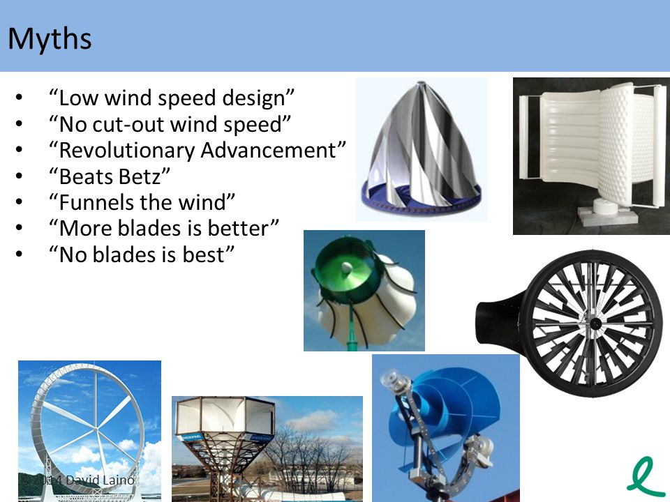 Myths Low wind speed design No cut-out wind speed