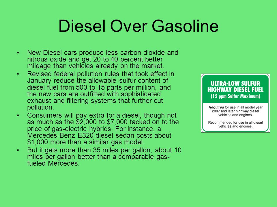 Diesel Over Gasoline
