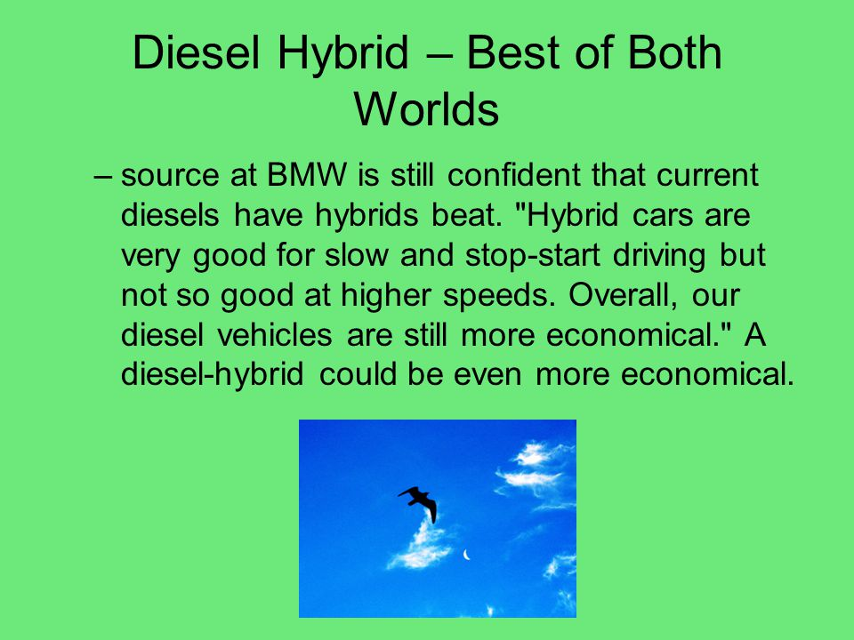 Diesel Hybrid – Best of Both Worlds