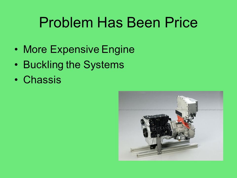 Problem Has Been Price More Expensive Engine Buckling the Systems