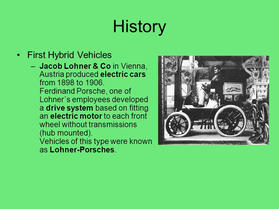 History First Hybrid Vehicles