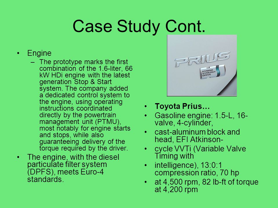 Case Study Cont. Engine.