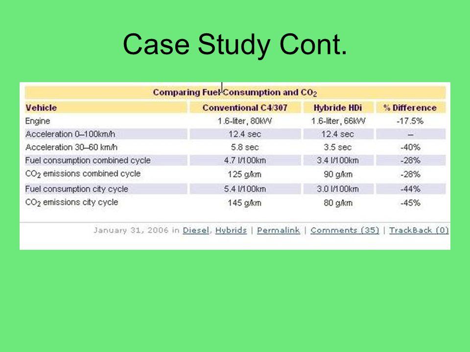 Case Study Cont. http://www.greencarcongress.com/2006/01/psa_peugeot_cit.html